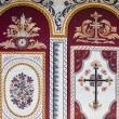 Fresco on monastery wall — Stock Photo