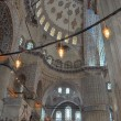 Inside the Blue mosque, Istanbul — Stock Photo