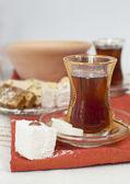 Traditionelle türkische chai — Stockfoto