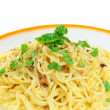 Spaghetti carbonara — Stock Photo