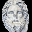 Marble head of Greek god Zeus - 