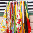 Colorful Fabrics by White Vent — Stock Photo