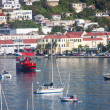 Red Ferry Crossing Bay on St Thomas — Stock Photo