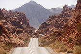 Road Rolling Through Red Rock Canyons — Stock Photo