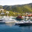Four Yachts at St Thomas — Stock Photo
