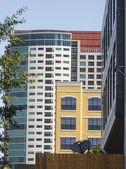 Colorful Condos in Mixed Use Complex — Stock Photo