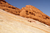 Red Rock Boulders on Sandstone — Stock Photo