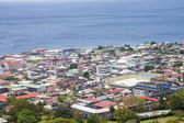 Colorful Town of Rosseau Dominica — Stock Photo
