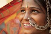 Felice donna indiana — Foto Stock