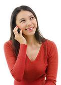 Falando no telefone — Fotografia Stock