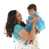 Indian mother and daughter — Stock Photo