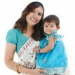 Stock Photo: Indimother and baby girl