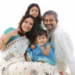 Happy traditional Indian family — Stock Photo