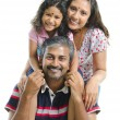 Happy Asian Indian family — Stock Photo