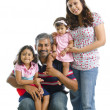 Foto Stock: Happy modern Indian family