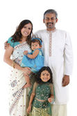 Traditionelle indische familie — Stockfoto