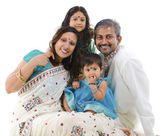Happy traditional Indian family — Photo