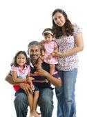 Happy modern Indian family — Stock Photo