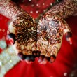 Indian bride's hand — Stock Photo