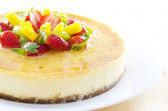 Passion fruit cheese cake — Stock Photo