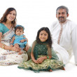 Traditional Indian family — Stockfoto
