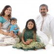 traditionele Indische familie — Stockfoto