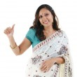 Thumb up Indian woman — Stock Photo