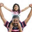 Indian father and daughter — Foto Stock