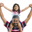 Indian father and daughter — Stockfoto