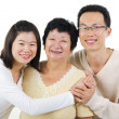 Stock Photo: Asian family