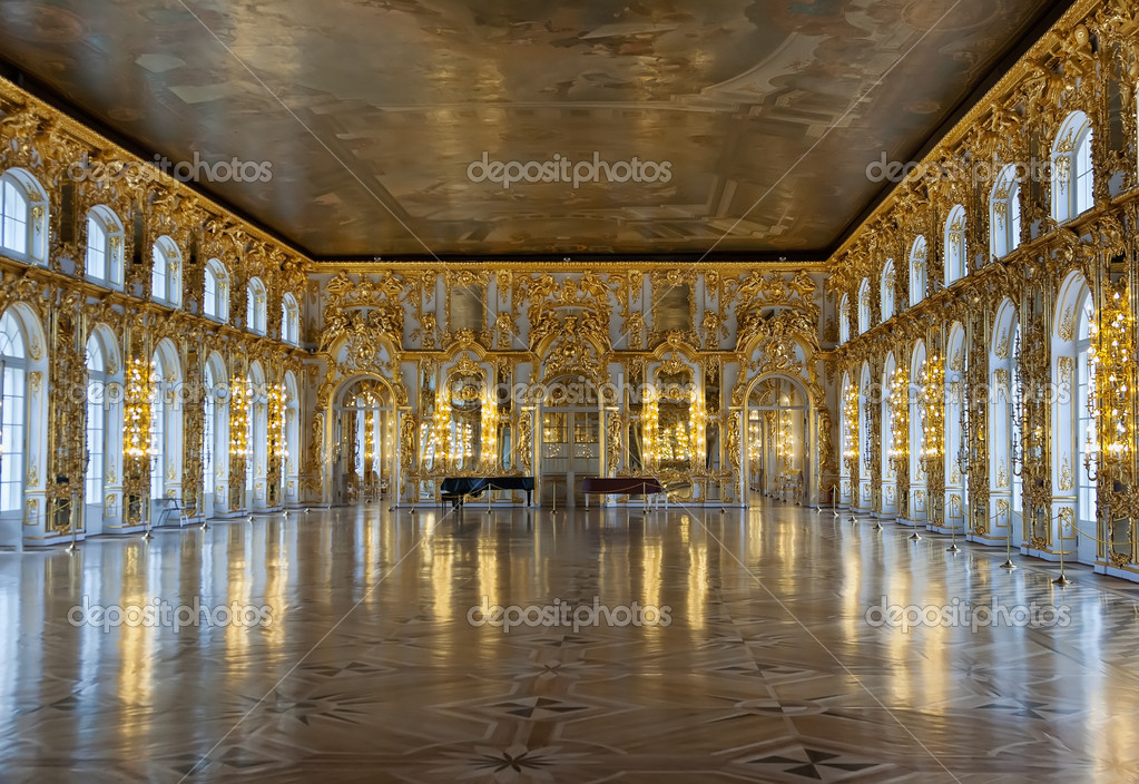 Ballrooms Catherine Palace — Stock Photo © Ruslan #10797482