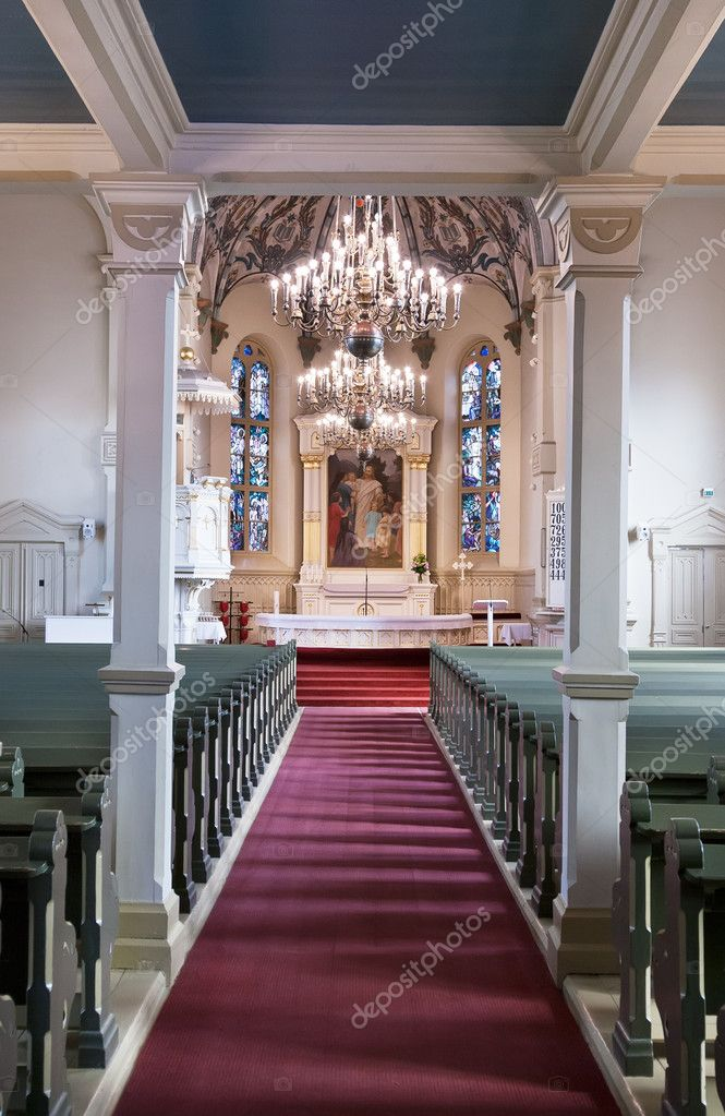 The interior of the Catholic Church in the city of Jyväskylä, Finland — Stock Photo #10797980