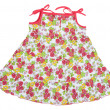 Colored rose children's summer dress — Stock Photo