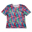 Color with an abstract pattern Women's T-shirt — Stock fotografie