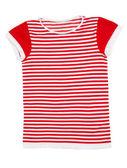 Chemise sport rayé rouge et blanc — Photo