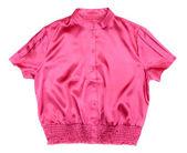 Red satin blouse Women's Fashion — Stock Photo