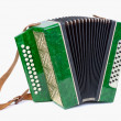 ������, ������: Old bayan musical instrument as accordion isolated on white