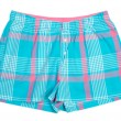 Stock Photo: The blue plaid shorts