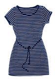 Fashionable women's striped dress. — Stock Photo