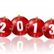 2013 new year illustration with christmas balls — Stock Photo
