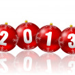 Stock Photo: 2013 new year illustration with christmas balls