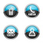 Contact icons set — Stock Photo #11872250