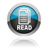 Leggere l'icona — Foto Stock