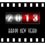 Feliz año nuevo ilustración con contador — Foto de Stock