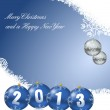 Merry christmas and a happy new year 2013 — Stock Photo