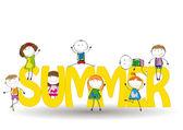 Kids summer — Stock Vector