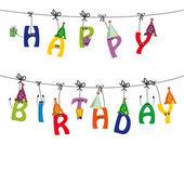 открытка на день рождения — Cтоковый вектор