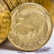 Stock Photo: Extremely close up view of New Zealand dollar currency