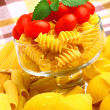 Delicious cherry tomatoes with pasta in goblet — Stock fotografie