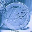 Extremely close up view of European currency — Stock Photo #11167074